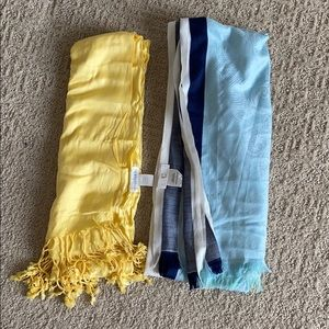Set of 2 Charming Charlie light weight scarfs